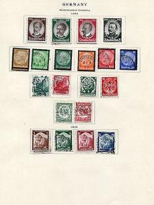 Germany Collection 1923/ 1935 VF  7 pages    Lakeshore Ph...