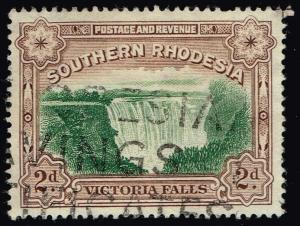 Southern Rhodesia #37 Victoria Falls; Used (0.25)