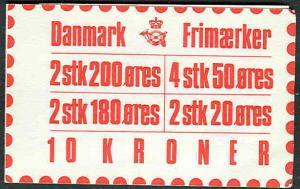DENMARK (H49) 10kr Booklet, VF