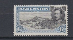 ASCENSION  1938  S G 43   6D BLACK  &  BLUE  PERF 131/2 MNH