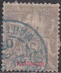 Martinique 41 Hinged Used 1899 Navigation & Commerce