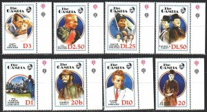 Gambia. 1988. 798-805. Movie Actors, Charlie Chaplin, Comedians. MNH.
