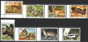 Rwanda. 1981. 1119-26. Predators, fauna. MNH.