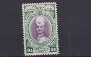 KELANTAN    1937  S G  52  $1 VIOLET & GREEN       MH   CAT £65