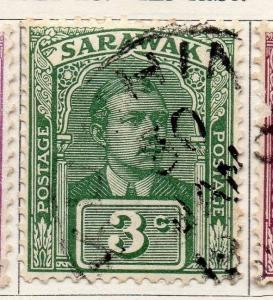Sarawak 1921-23 Early Issue Fine Used 3c. 050870