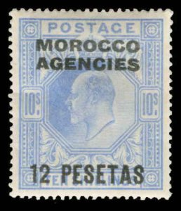 Great Britain Offices in Morocco Scott 34-45 Gibbons 112-123 Mint Set of Stamps