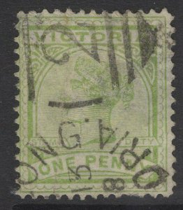 VICTORIA SG312a 1887 1d YELLOW-GREEN USED