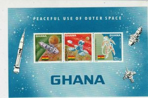 Ghana Peaceful Use of Outer Space Mint Never Hinged Stamps Sheet Ref 23738