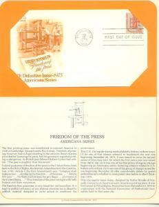 D.Freedom of the Press, FDC (USHFDC1593)