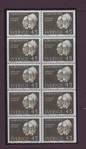Sweden Sc807a 1968 Nobel Prize stamp bklt pane NH
