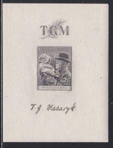 Czechoslovakia # B152, President Masaryk, Souvenir Sheet, NH 1/2 Cat.