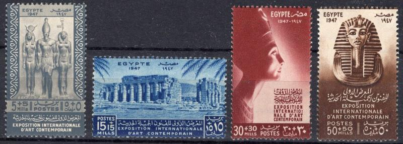 Egypt B9-12 - Mint-NH - Egyptian Art (1947) (cv $9.75)