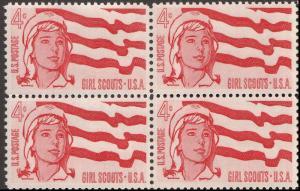 US 1199 Girl Scout Jubilee 4c block MNH 1962