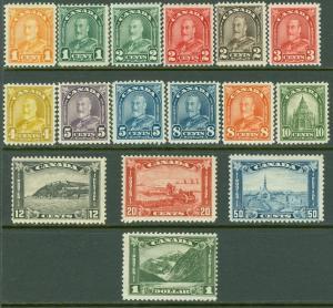 EDW1949SELL : CANADA 1930-31 Scott #162-77 Cplt Mint OG Very Fresh set. Cat $505