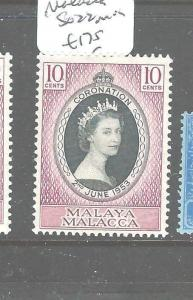 MALAYA MALACCA (P2704B) QEII CORONATION SG 22    MOG