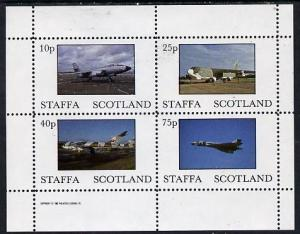 Staffa 1982 Military Jets perf  set of 4 values (10p to 7...