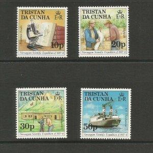 Tristan da Cunha 1987 50th Anniv. of Norwegian Expedition UMM Set SG 434/7