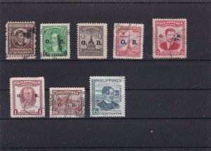 PHILIPPINES MOUNTED MINT & OR  USED STAMPS ON STOCK CARD  REF R814