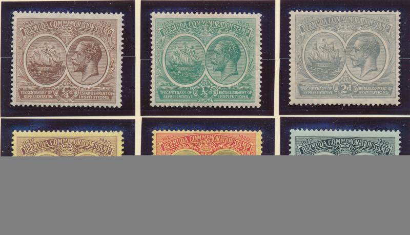 Bermuda Stamp Set Scott #55-60, Mint Hinged