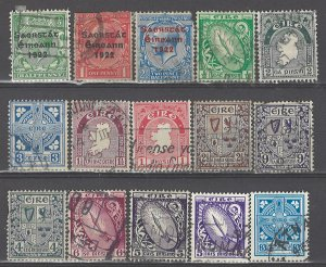 COLLECTION LOT # 3560 IRELAND 15 STAMPS 1922+ CV+$23