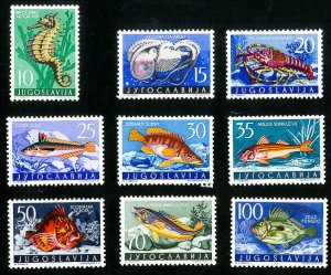 Yugoslavia Stamps # 452-60 VF MLH Scott Value $51.90