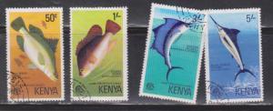KENYA Scott # 68-71 Used - Fish