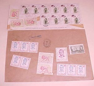 IRAN  10 or MORE STAMP ON EACH OF 2 REGISTERED 1970's B/S US