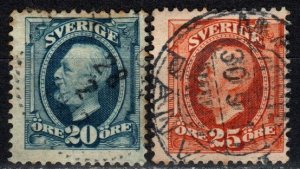 Sweden #75-6 F-VF Used CV $19.00  (X5673)