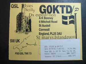 10450 Amateur Radio QSL Card ST AUSTELL CORNWALL ENGLAND