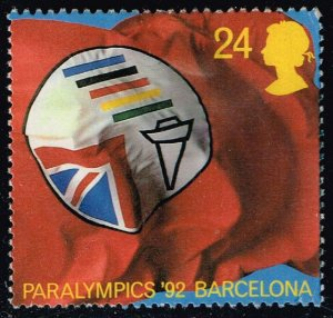 Great Britain #1452 Paralympic Assoc. Flag; Used (0.40)
