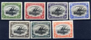 Papua 1906 sg 1 - 7 wmk Horz, set to 1/- all very fine LM