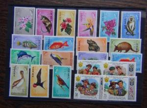 Grenada 1972 Airmail set complete to $5 SG501 - SG521 MNH