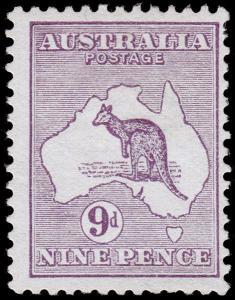 Australia Scott 9 (1913) Mint LH F-VF, CV $160.00 M