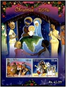 CHRISTMAS - 2016  Stamp Souvenir sheet - Sri Lanka