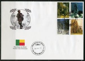 BENIN  2018  RUSSIAN PAINTER  IVAN CHICHKINE  SET  OF  FOUR  FIRST DAY COVER