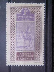 UPPER SENEGAL AND NIGER, 1914, MH 1c, Camel, Scott 18