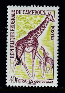 CAMEROON — SCOTT 372 — 1962 FAUNA ISSUE 40fr GIRAFFE — MNH — SCV $7.50
