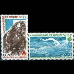 ST.PIERRE 1976 - Scott# 448-9 Olympics Set of 2 NH