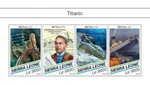 Sierra Leone Titanic Stamps 2018 MNH Ships Boats Nautical 4v M/S