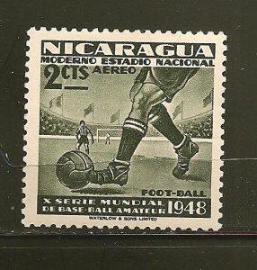 Nicaragua C297 Football Airmail Mint Hinged