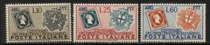 Italy-Trieste A 1951 Postage Stamp Centennial set Sc# 131-33 NH