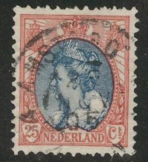 Netherlands Scott 77 used 1898 issue