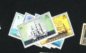 Bermuda #337-42 MINT F-VF OG NH Cat $10