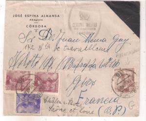 1940 Cordoba Spain Cover to De Gurs Concentration camp France