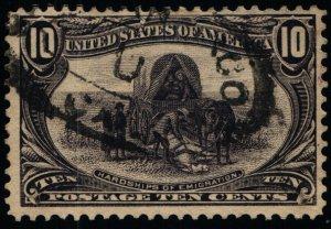 Scott #290 VF - 10c Gray Violet Used - Trans-Mississippi Expo - Tear - 1898
