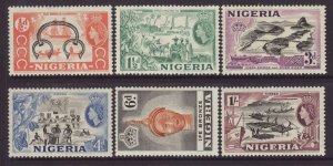 1953 Nigeria 6 Values to 1/- Mounted Mint