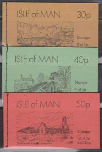 Isle of Man - 1974 Booklets 30p, 40p, 50p VF SG #SB5-7