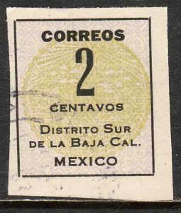 MEXICO 402,  2¢ Baja California Revolut. Issue. USED. F-VF. (706)