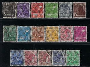 Germany AM Post Scott # 617 - 633, used, cpl. set, incl # 631a
