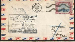 M) 1930 USA, HEADLIGHT SEAL, AIRCRAFT CONTOUR, BLUE AND RED, AIR MAIL, CIRCULATE